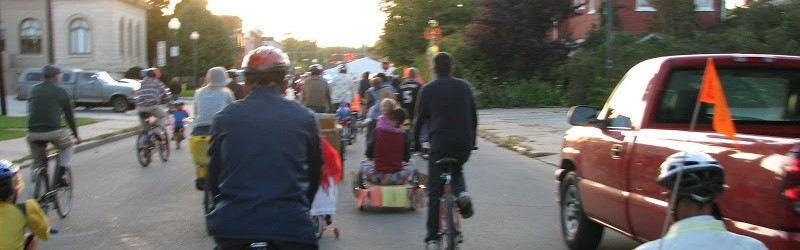 Bike Parade on First Friday in May