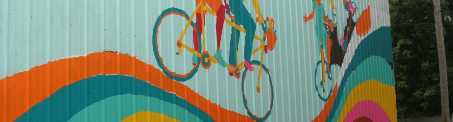 New Mural at Chain Reaction Bike Shop